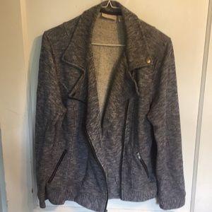 Dress barn sz L cozy zip up sweatshirt material